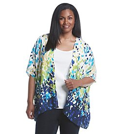 Laura Ashley® Plus Size Dip Dot Print Kimono