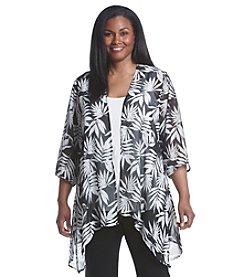 Laura Ashley® Plus Size Palm Print Kimono
