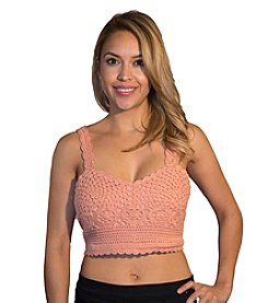 Skylar & Jade™ Crochet Button Back Bralette
