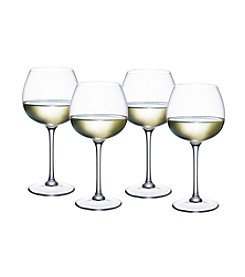 Villeroy & Boch® Purismo Set of 4 Soft and Rounded White Wine Goblets