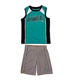 PUMA® Boys' 2T-4T 2-Piece 3D Muscle Tee and Shorts Set