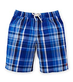 Ralph Lauren Childrenswear Boys' 8-20 Plaid Swim Trunks