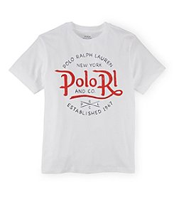 Ralph Lauren Childrenswear Boys' 8-20 Short Sleeve Logo Graphic Tee