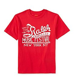 Ralph Lauren Childrenswear Boys' 8-20 Short Sleeve Music Festival Graphic Tee