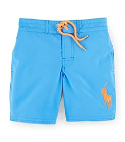 Ralph Lauren Childrenswear Boys' 2T-7 Big Pony Swim Trunks
