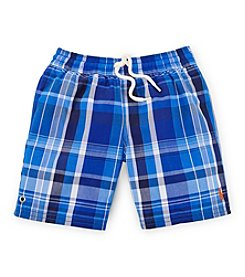 Ralph Lauren Childrenswear Boys' 2T-7 Plaid Swim Trunks