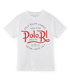 Polo Ralph Lauren® Boys' 2T-7 Short Sleeve Logo Graphic Tee