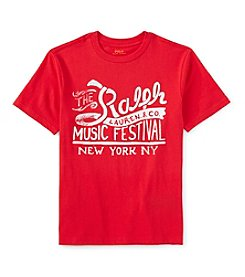 Ralph Lauren Childrenswear Boys' 2T-7 Short Sleeve Music Festival Graphic Tee