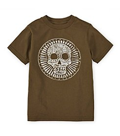 Ralph Lauren Childrenswear Boys' 2T-7 Short Sleeve Sugar Skull Graphic Tee