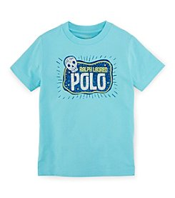 Ralph Lauren Childrenswear Boys' 2T-7 Short Sleeve Logo Sugar Skull Graphic Tee