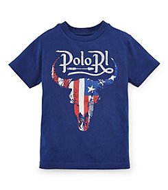 Ralph Lauren Childrenswear Boys' 2T-7 Short Sleeve Steer Graphic Tee