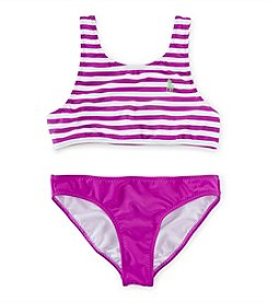 Ralph Lauren Childrenswear Girls' 7-16 2-Piece Striped Bikini