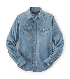 Ralph Lauren Childrenswear Girls' 7-16 Long Sleeve Western Shirt