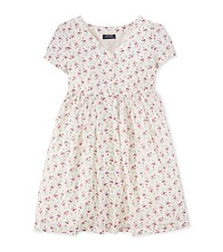 Ralph Lauren Childrenswear Girls' 7-16 Floral Button Dress