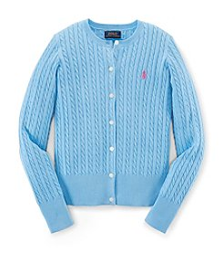 Polo Ralph Lauren® Girls' 7-16 Cable Knit Cardigan