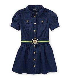 Ralph Lauren Childrenswear Girls' 7-16 Belted Shirt Dress