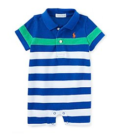 Ralph Lauren® Baby Boys' Striped Shortall One-Piece