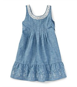 Polo Ralph Lauren® Girls' 2T-6X Embroidered Chambray Dress