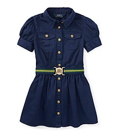 Ralph Lauren Childrenswear Girls' 2T-6X Belted Shirt Dress