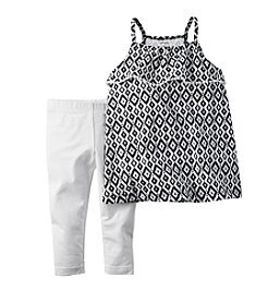 Carter's® Girls' 2T-6X Geo Printed Tank And Leggings Set