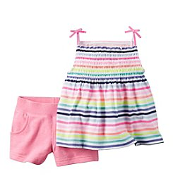 Carter's® Girls' 2T-6X Striped Tank And Shorts Set