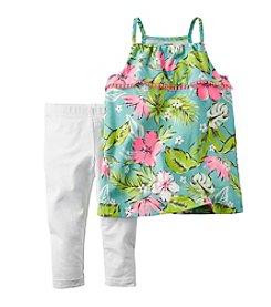 Carter's® Girls' 2T-6X Tropical Floral Tank And Leggings Set