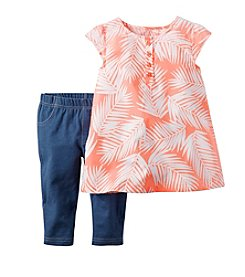 Carter's® Girls' 2T-4T Leaf Printed Tunic And Jeggings Set