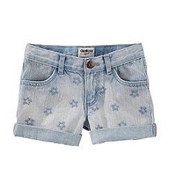 OshKosh B'Gosh® Girls' 2T-4T Star Embroidered Denim Shorts