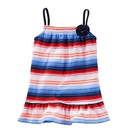 OshKosh B'Gosh® Girls' 4-6X Striped Rosette Tank