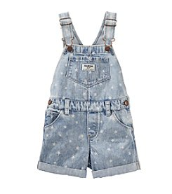 OshKosh B'Gosh® Girls' 2T-4T Star Embroidered Denim Shortalls