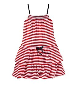 OshKosh B'Gosh® Girls' 4-6X Striped Ruffle Tank Dress