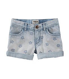 OshKosh B'Gosh® Girls' 4-6X Star Embroidered Denim Shorts