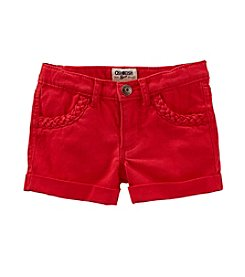 OshKosh B'Gosh® Girls' 4-6X Braided Trim Shorts