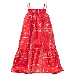 OshKosh B'Gosh® Girls' 2T-6X Bandana Printed Maxi Tank Dress