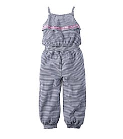 Carter's® Girls' 4-6X Striped Ruffle Jumpsuit