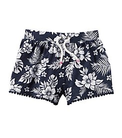 Carter's® Girls' 4-6X Floral Printed Drawstring Shorts