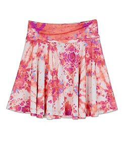 Amy Byer Girls' 7-16 Abstract Printed Flippy Skirt