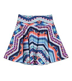 Amy Byer Girls' 7-16 Geo Printed Flippy Skirt