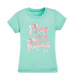 Under Armour® Girls' 2T-6X Short Sleeve Play Win Repeat Tee