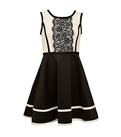 Bonnie Jean® Girls' 7-16 Lace Panel Fit And Flare Dress