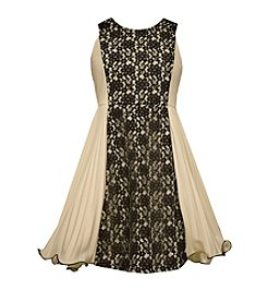 Bonnie Jean® Girls' 7-16 Lace Colorblock Scuba Dress
