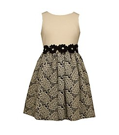 Bonnie Jean® Girls' 7-16 Daisies And Jacquard Dress