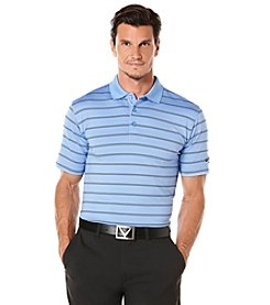 Callaway® Men's Ventilated Stripe Opti Dry Short Sleeve Polo