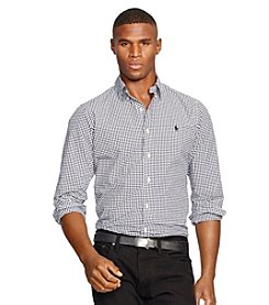 Polo Ralph Lauren® Men's Gingham Poplin Long Sleeve Button Down Shirt