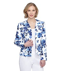 Tahari ASL® Floral Printed Open Jacket