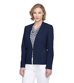 Tahari ASL® Stand Collar Open Jacket