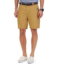 Nautica® Men's Flat Front Linen Shorts
