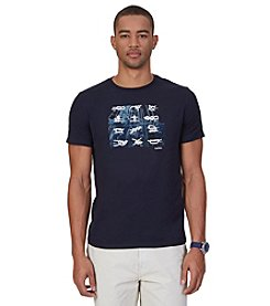 Nautica® Men's Knots Graphic Crew Neck Short Sleeve Tee