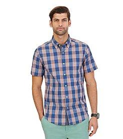 Nautica® Men's Short Sleeve Plaid Button Down Shirt