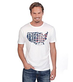 Lucky Brand® Men's Short Sleeve Front Screen Print Freedom Tee